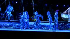 Sea creatures dance during Carl Orff's 'Carmina Burana' Stock Footage