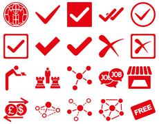 Agreement and trade links icon set Stock Photos