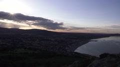 Stunning sunset over the east coast of Ireland Stock Footage