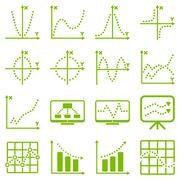 Dotted raster infographic business icons - stock photo