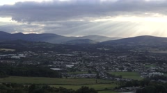 Sunset over the Ireland Countryside Stock Footage