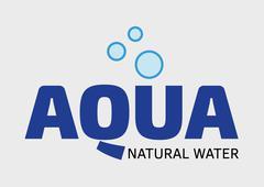 Aqua natural water logo - stock illustration