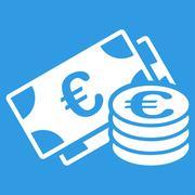 Stock Illustration of Euro cash icon