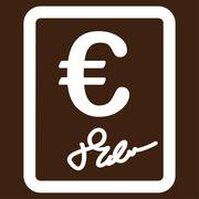 Contract icon - stock illustration
