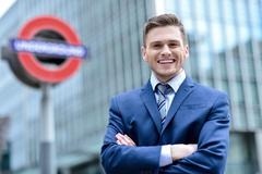 Relaxed corporate male executive - stock photo