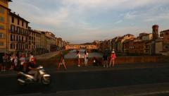 Ponte Vecchio Bridge Stock Footage