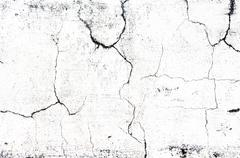 Cracked concrete old while wall background Stock Photos