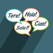 Multilingual environment symbol - stock illustration