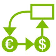 Flow chart icon Stock Illustration