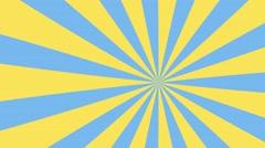 4k yellow and blue cartoon sun burst seamless loop motion background Stock Footage