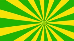 4k yellow and green cartoon sun burst seamless loop motion background Stock Footage