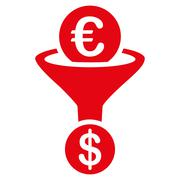Currency conversion icon Stock Illustration