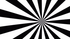 4k black and white cartoon sun burst seamless loop motion background Stock Footage