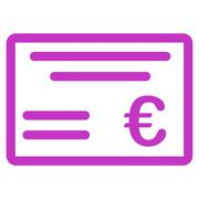 Cheque icon Stock Illustration