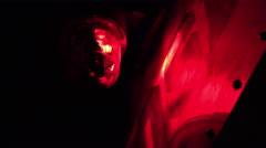 Red warning light spinning 4k Stock Footage