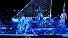 Sea creatures dance during Carl Orff's 'Carmina Burana' opera dress rehearsal Stock Footage