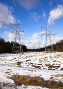 lines electric - stock photo
