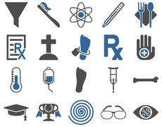 Medical bicolor icons Stock Illustration