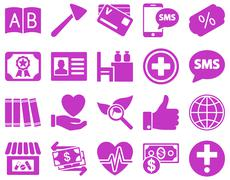 Medical bicolor icons Stock Photos