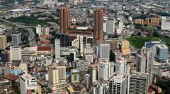 Time Lapse of Kuala Lumpur Skyline Daytime Stock Footage