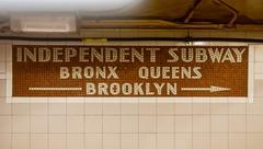 Independent Subway - New York City Subway System Stock Photos