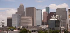 Houston Texas City Skyline South Side Downtown Kuvituskuvat