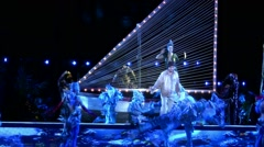 Sea creatures dance on stage  during Carl Orff's Carmina Burana opera Stock Footage