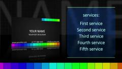 Stock After Effects of Video Visiting Card