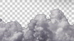 4K UHD pre keyed alpha puffy cumulus clouds time lapse motion effects 2 Stock Footage
