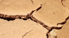 DROUGHT & DESERT - Dolly horizontally across hot and dry cracked parched earth - stock footage
