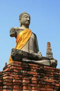 Statue Buddha in Ayutthaya - stock photo