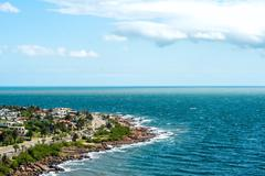 San Francisco Fisherman's place near the town of Piriapolis in the Uruguay Co - stock photo