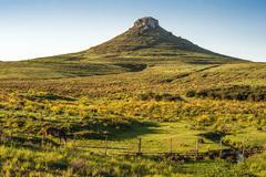 Idyllic landscape of Batovi Hill, Tacuarembo in north-central Uruguay - stock photo