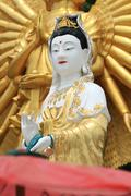 Statue of Guan Yin Stock Photos
