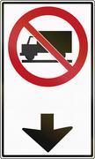 Trucks Forbidden Ahead In Canada Stock Illustration