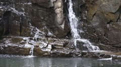 Tropical waterfall in motion National Park, Koh Kood Island,  Thailand. Stock Footage