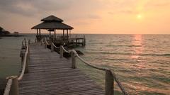 Sunset on the beach. Island Koh Kood, Thailand Stock Footage