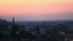 Aerial Skyline of Florence at Sunset Stock Footage