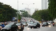 Time Lapse of Heavy Traffic in Kuala Lumpur Malaysia - stock footage