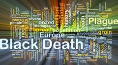 Black Death background concept glowing - stock illustration