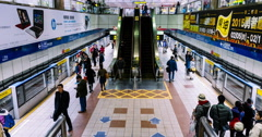 Stock Video Footage of Taipei Metro Dongmen Staton. 4K