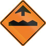 Stock Illustration of Temporary Rough Road Ahead In Canada