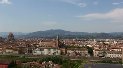 Aerial Skyline of Florence Stock Footage