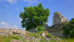 Ruins of the ancient city of Chersonesos. Stock Footage