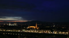 Aerial Skyline of Florence at Evening Stock Footage
