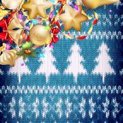 New Year christmas decoration. EPS 10 - stock illustration