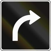 Right Turn Lane In Canada - stock illustration