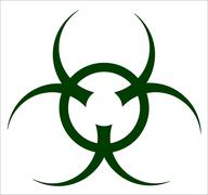 Bio Hazard Symbol Stock Illustration