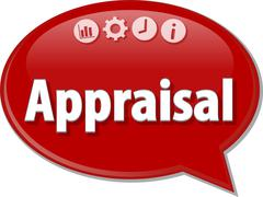 Appraisal Business term speech bubble illustration - stock illustration