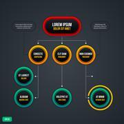 Organization chart with round elements. EPS10. Stock Illustration